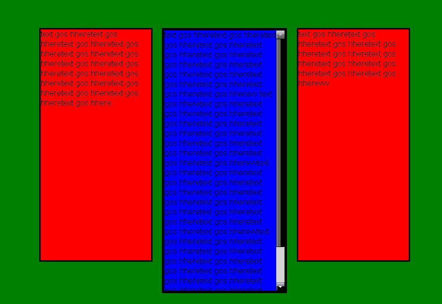 3 box 7 Myspace div layout