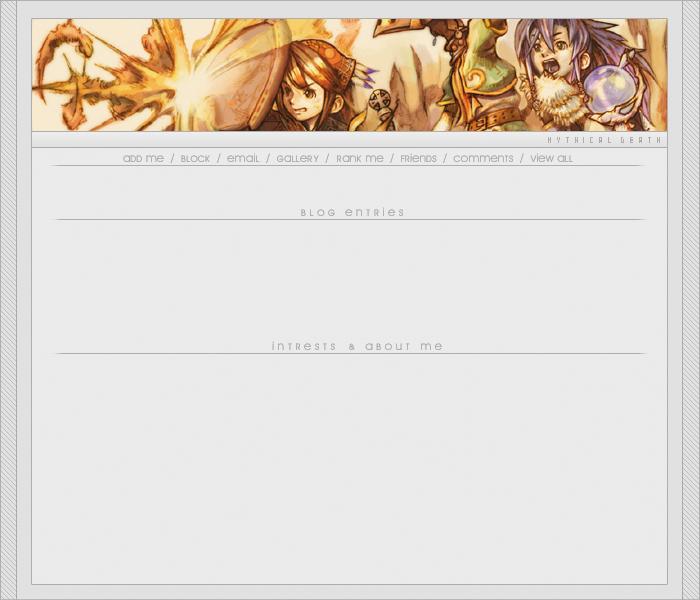 Gaming V1 Myspace div layout