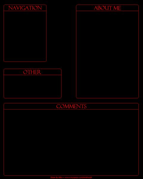 4 box 16 Myspace div layout