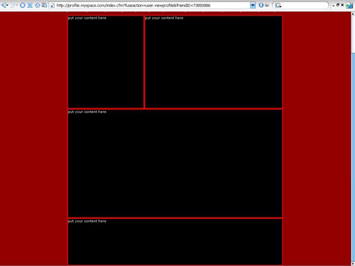 4 box 7 Myspace div layout