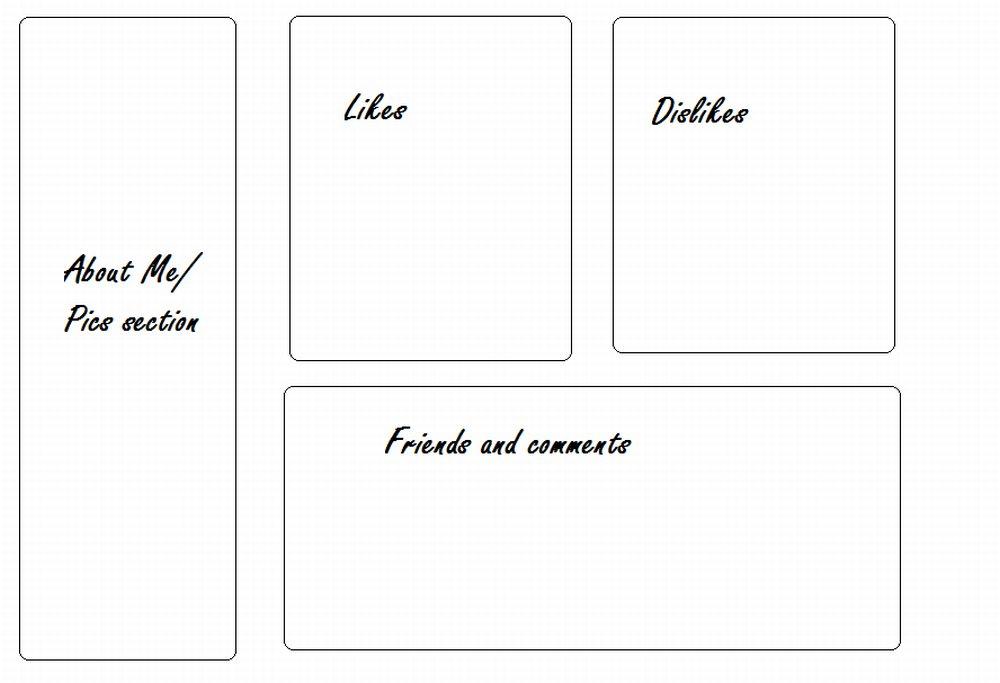 4 box 9 Myspace div layout