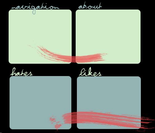 Brushstrokes Myspace div layout