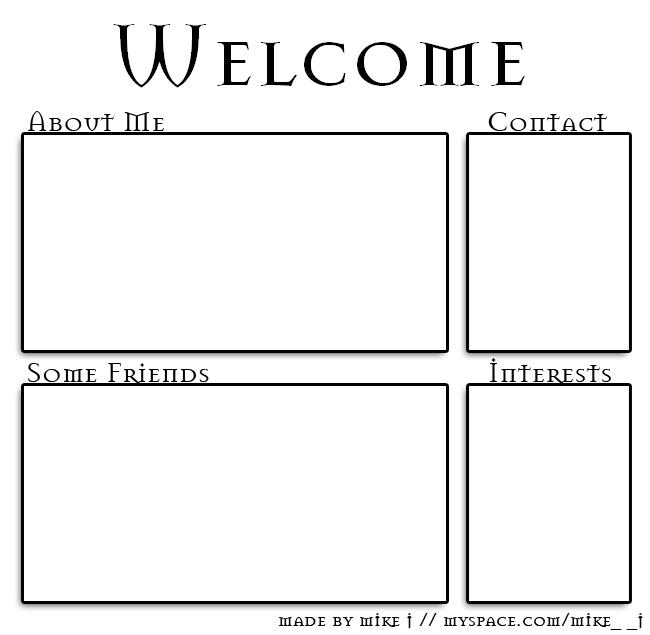 4 box 11 Myspace div layout