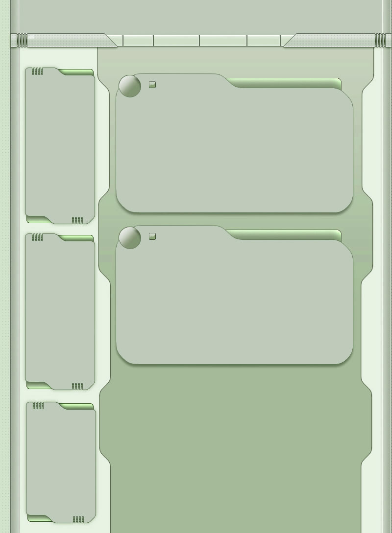 Green Tech Myspace div layout