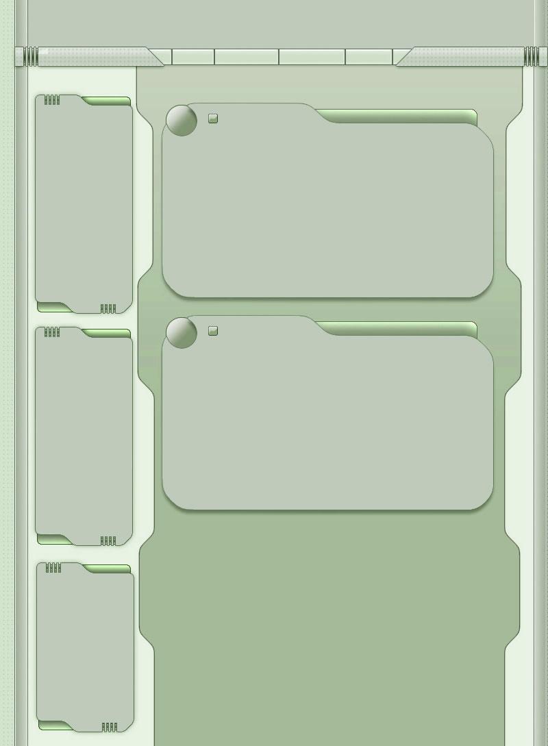 Green Tech Myspace div layout