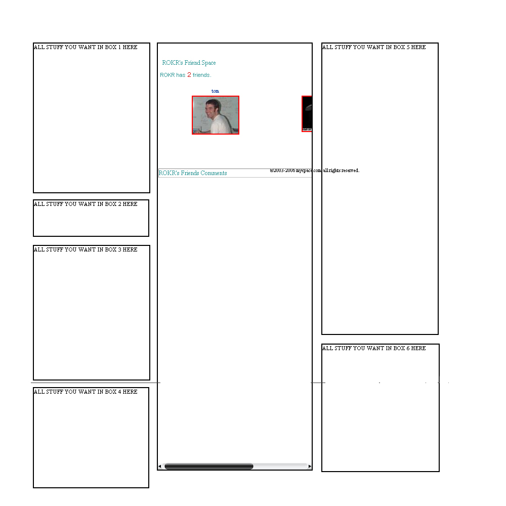 Myspace div creator for Room layout generator
