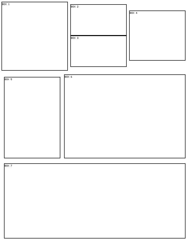 7 box 15 Myspace div layout