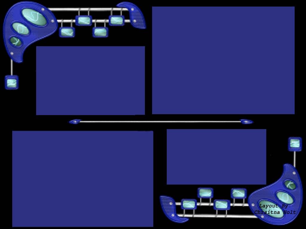 Blue Myspace div layout
