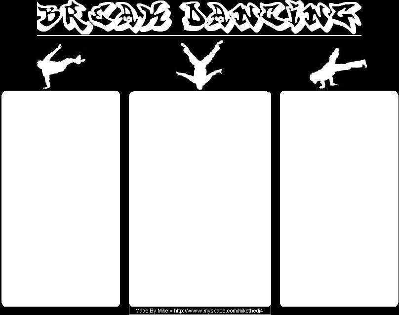 Breakdancing Myspace div layout