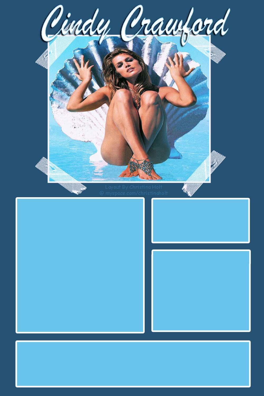 Cindy Crawford Myspace div layout