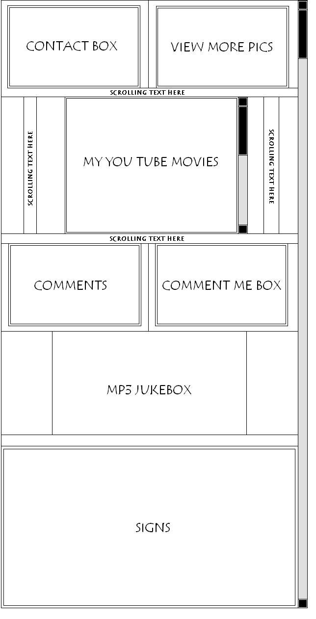 Complex Myspace div layout