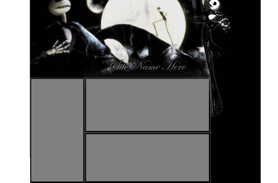 Nightmare Before Christmas Myspace div layout
