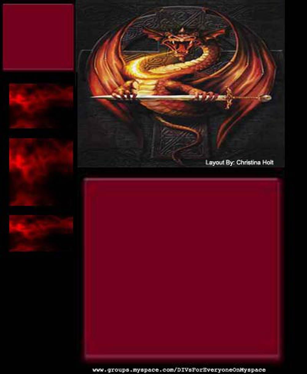 Dragon Myspace div layout