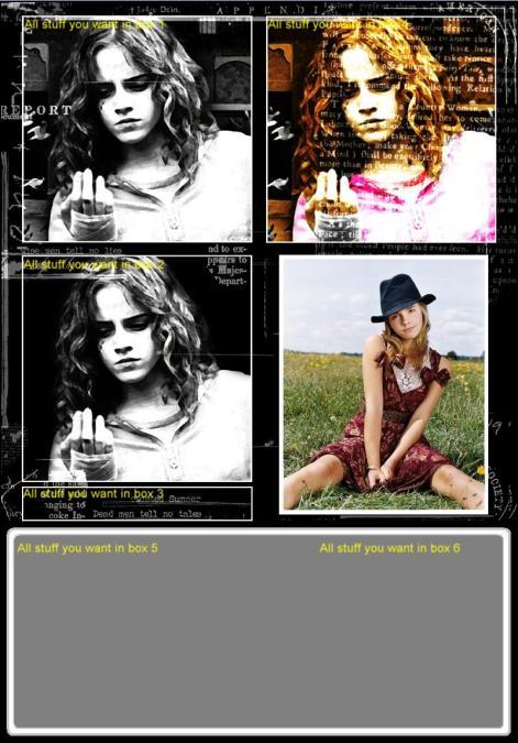 Emma Watson Myspace div layout