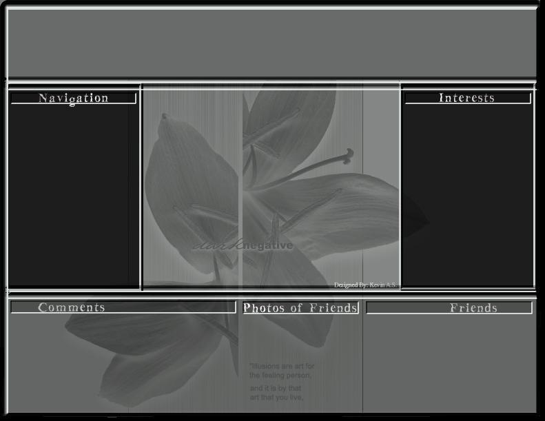 Background Flower Myspace div layout