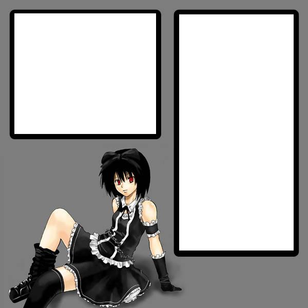 Goth Girl 2 myspace div layout