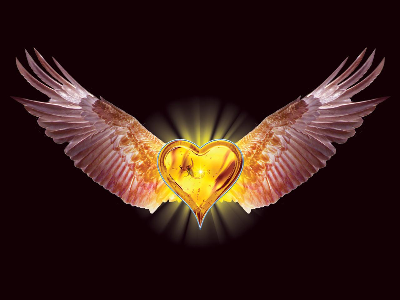 Flying heart Myspace div layout