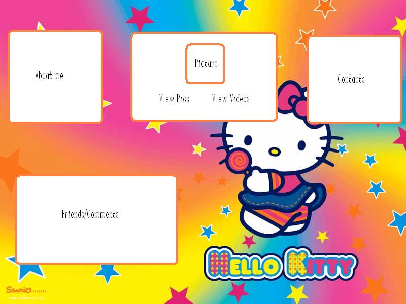 Hello Kitty Myspace div layout