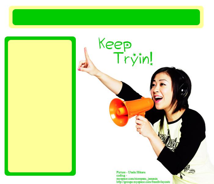 Utada Hikaru 2 Myspace div layout