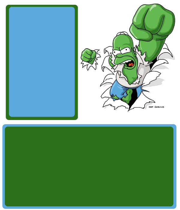 Hulk Homer Myspace div layout