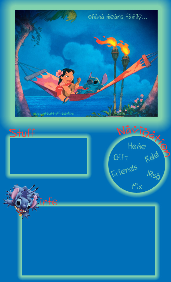 Lilo and Stitch Myspace div layout