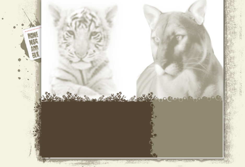Lion and Tiger Myspace div layout