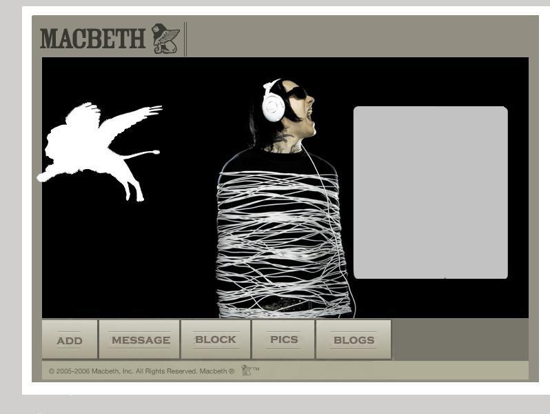 Macbeth Myspace div layout