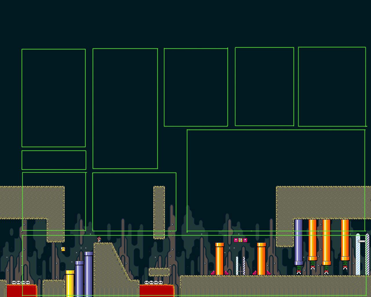 Super Mario Myspace div layout