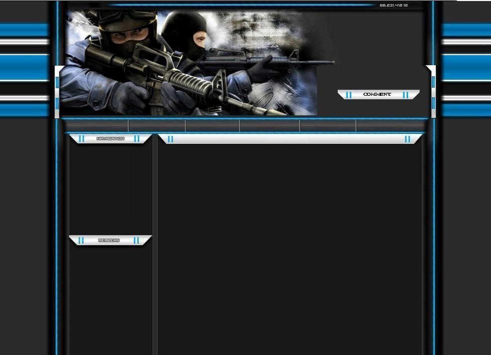 Millitary Myspace div layout
