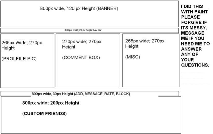 6 box 17 Myspace div layout