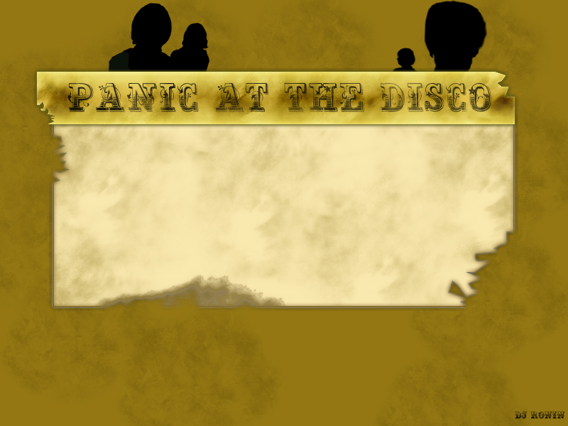 Panic at the Disco Myspace div layout