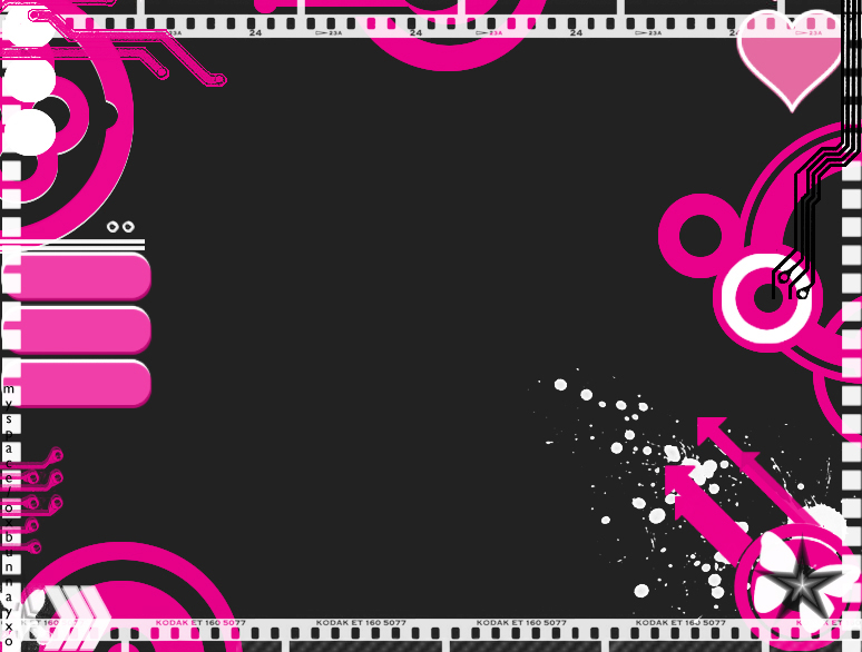 Pink and Black Myspace div layout