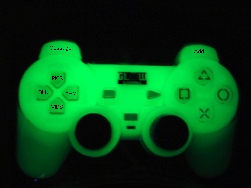 Playstation controller Myspace div layout