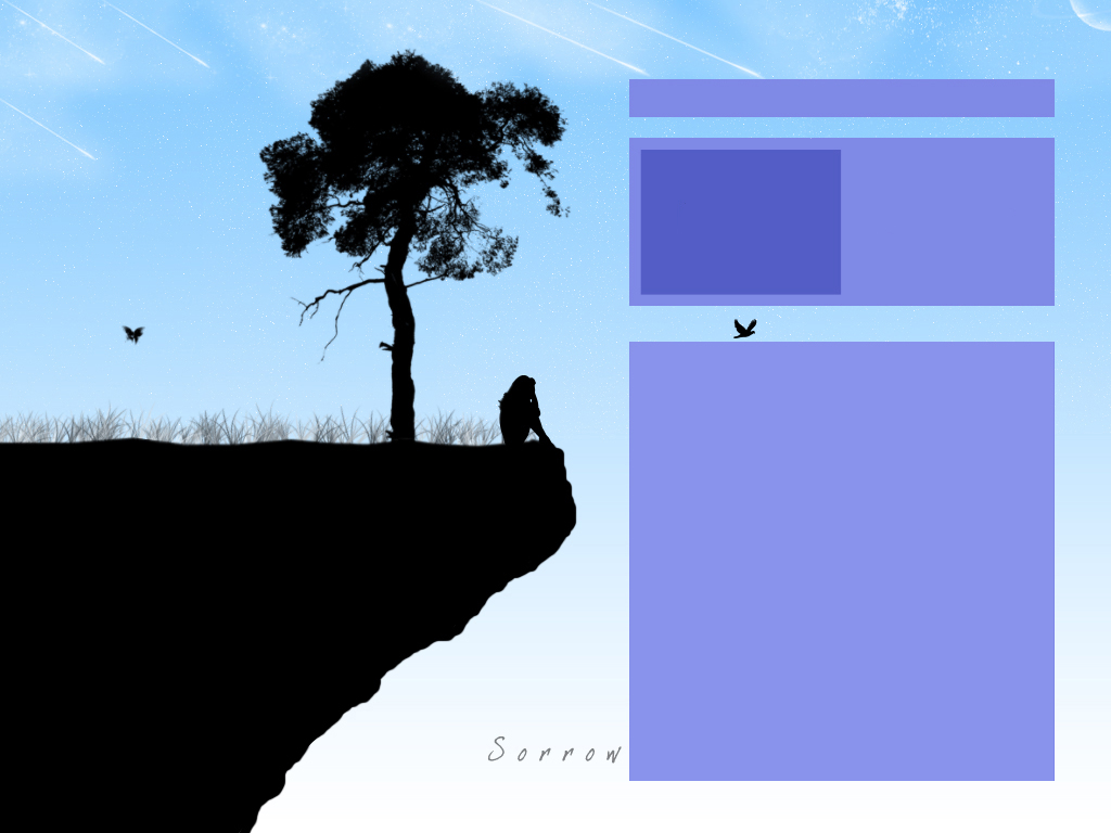 Girl on a Cliff myspace div layout