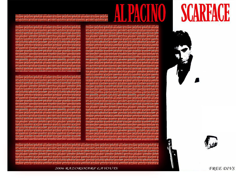Scarface Myspace div layout