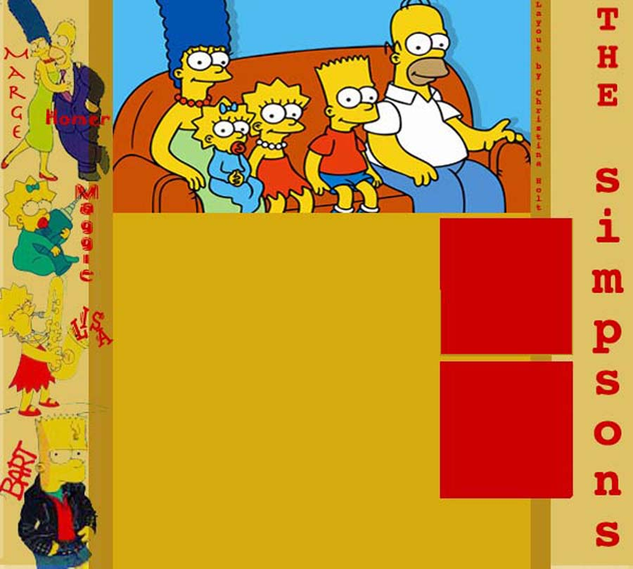 The Simpsons Myspace div layout