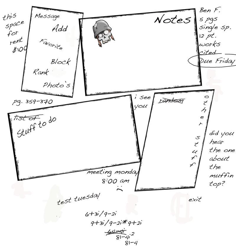 Notebook Myspace div layout