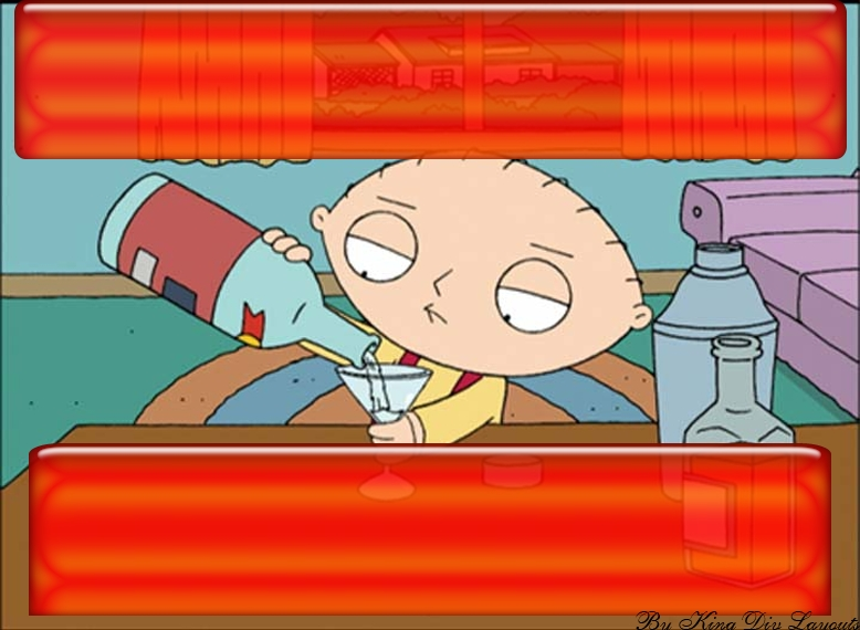 Family Guy - Stewie Drinking Myspace div layout