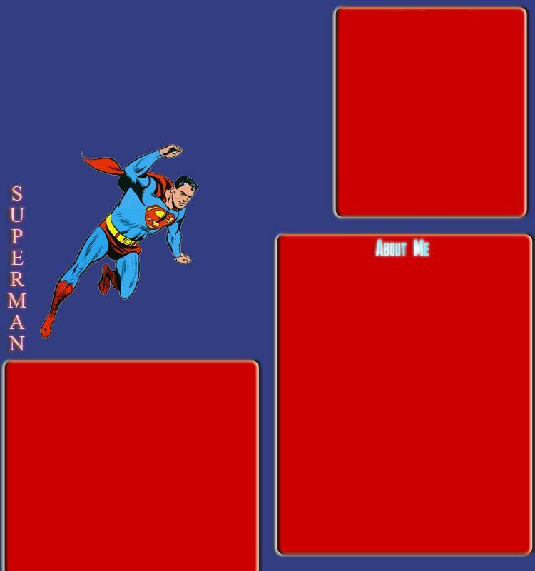 Superman Myspace div layout