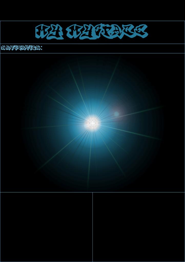 Blue Super Nova Myspace div layout
