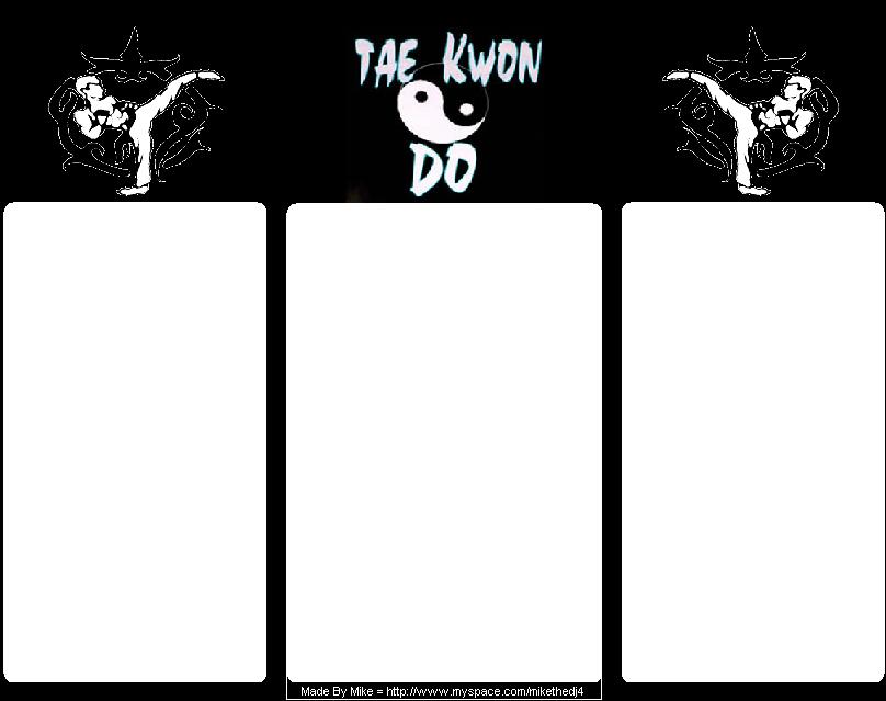Tae Kwon Do Myspace div layout