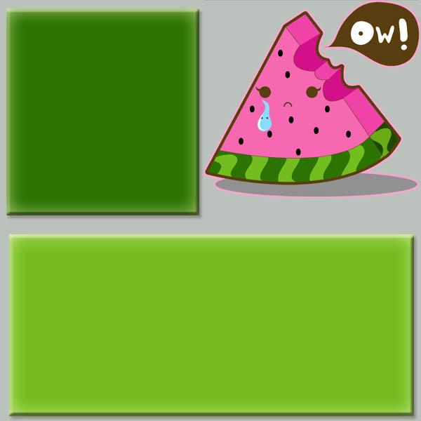 Watermelon Sadness Myspace div layout